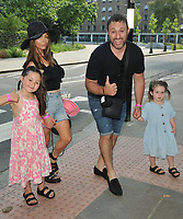 """Rosanna Jasmin, Antony Costa and children at the """"Spirit Untamed"""" special screening, Curzon Bloomsbury, Brunswick Centre, Brunswick Square, on Sunday 18 July 2021, in London, England, UK. <br /> CAP/CAN<br /> ©CAN/Capital Pictures"""