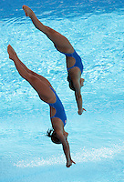 Italy's Tania Cagnotto and Francesca Dallape' compete in the women 3-meter synchro springboard diving finals at the Swimming World Championships in Rome, 24 July 2009..UPDATE IMAGES PRESS/Riccardo De Luca