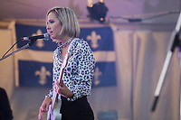 The Beaches performs on the main stage of the Festival d'ete de Quebec (FEQ) in Quebec city Saturday July 8, 2017.