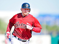 4 March 2010: Houston Astros outfielder Jason Michaels rounds the bases after hitting a solo home run during the Astros' Grapefruit League Opening Day game against a Washington Nationals' split squad at Osceola County Stadium in Kissimmee, Florida. The Astros defeated the Nationals 15-5 in Spring Training action. Mandatory Credit: Ed Wolfstein Photo