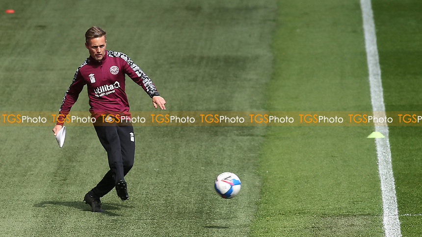 Matthew Bramhall, Brentford's Strength & Conditioning Coach, ahead of kick-off during Brentford vs Watford, Sky Bet EFL Championship Football at the Brentford Community Stadium on 1st May 2021