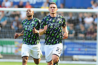 Connor Roberts of Swansea City during the pre-match warm-up for the Sky Bet Championship match between Swansea City and Nottingham Forest at the Liberty Stadium in Swansea, Wales, UK. Saturday 14 September 2019