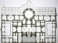 Floor plan of the Baths of Caracalla, Rome Italy, 118 - 125 CE