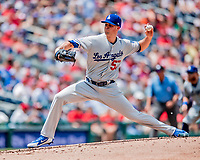 20 May 2018: Los Angeles Dodgers pitcher Alex Wood on the mound against the Washington Nationals at Nationals Park in Washington, DC. The Dodgers defeated the Nationals 7-2, sweeping their 3-game series. Mandatory Credit: Ed Wolfstein Photo *** RAW (NEF) Image File Available ***