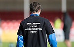 Hamilton Accies v St Johnstone…25.09.16.. New Douglas Park   SPFL<br />Chris Kane wearing a suicide prevention t-shirt during warm-up<br />Picture by Graeme Hart.<br />Copyright Perthshire Picture Agency<br />Tel: 01738 623350  Mobile: 07990 594431