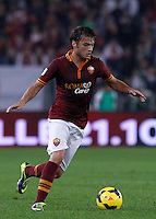 Calcio, Serie A: Roma vs ChievoVerona. Roma, stadio Olimpico, 31 ottobre 2013.<br /> AS Roma forward Adem Ljajic, of Serbia, in action during the Italian Serie A football match between AS Roma and ChievoVerona at Rome's Olympic stadium, 31 October 2013.<br /> UPDATE IMAGES PRESS/Isabella Bonotto
