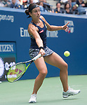 Anastasija Sevastova plays at the US Open being played on September  3, 2017 at Billy Jean King Ntional Tennis Center in Flushing, Queens, New York.  ©Leslie Billman/EQ