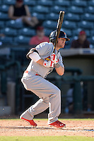 Salt River Rafters outfielder James Ramsey (5), of the St. Louis Cardinals organization, during an Arizona Fall League game against the Surprise Saguaros on October 14, 2013 at Surprise Stadium in Surprise, Arizona.  Salt River defeated Surprise 3-2.  (Mike Janes/Four Seam Images)