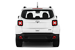 Straight rear view of 2021 JEEP Renegade Latitude 5 Door SUV Rear View  stock images