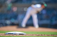 A close-up of third base during the Arizona Fall League Championship Game between the Salt River Rafters and Surprise Saguaros on October 26, 2019 at Salt River Fields at Talking Stick in Scottsdale, Arizona. The Rafters defeated the Saguaros 5-1. (Zachary Lucy/Four Seam Images)