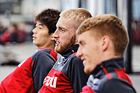 (L-R) Ki Sung-Yueng, Oliver McBurnie and Jay Fulton exercise in the gym during the Swansea City Training at The Fairwood Training Ground, near Swansea, Wales, UK. Friday 19 January 2018