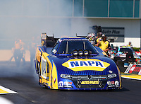 Mar 15, 2015; Gainesville, FL, USA; NHRA funny car driver Ron Capps during the Gatornationals at Auto Plus Raceway at Gainesville. Mandatory Credit: Mark J. Rebilas-