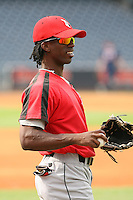 June 12th 2008:  Center Fielder Andrew McCutchen of the Indianapolis Indians, Class-AAA affiliate of the Pittsburgh Pirates, during a game at Fifth Third Field in Toledo, OH.  Photo by:  Mike Janes/Four Seam Images