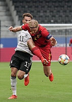 Belgium's captain Sebastiaan Bornauw (2) in action during a soccer game between the national teams Under21 Youth teams of Belgium and Germany on the 5th matday in group 9 for the qualification for the Under 21 EURO 2021 , on tuesday 8 th of September 2020  in Leuven , Belgium . PHOTO SPORTPIX.BE | SPP | SEVIL OKTEM
