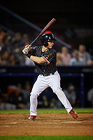 Reading Fightin Phils Luke Williams (11) bats during an Eastern League game against the Trenton Thunder on August 16, 2019 at FirstEnergy Stadium in Reading, Pennsylvania.  Trenton defeated Reading 7-5.  (Mike Janes/Four Seam Images)