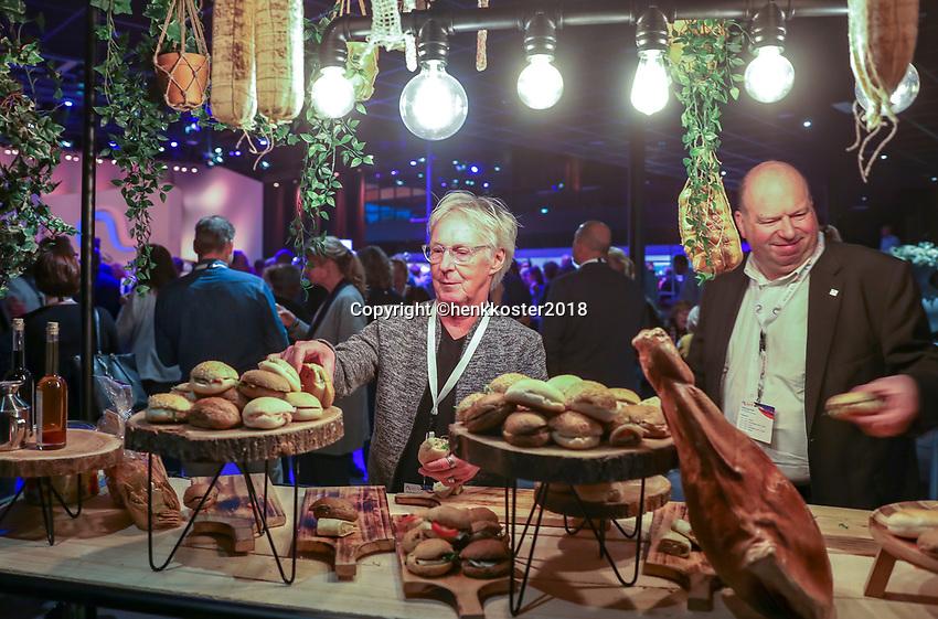 Nieuwegein,  Netherlands, 24 November 2018, KNLTB Year congress KNLTB, Lunch<br /> Photo: Tennisimages.com/Henk Koster