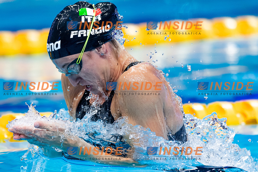 FANGIO Francesca ITA<br /> 200m Breaststroke Women Heats<br /> Swimming<br /> Budapest  - Hungary  20/5/2021<br /> Duna Arena<br /> XXXV LEN European Aquatic Championships<br /> Photo Giorgio Scala / Deepbluemedia / Insidefoto