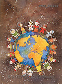 Isabella, CHRISTMAS CHILDREN, naive, paintings, earth, children(ITKE501014,#XK#) Weihnachten, Navidad, illustrations, pinturas