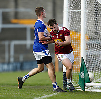 17th October 2020; TEG Cusack Park, Mullingar, Westmeath, Ireland; Allianz Football Division 2 Gaelic Football, Westmeath versus Laois; Jamie Gonoud gets the ball over the line for a Westmeath goal in the 64th minute