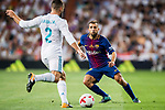 Jordi Alba Ramos (r) of FC Barcelona tries to tackle Daniel Carvajal Ramos of Real Madrid during their Supercopa de Espana Final 2nd Leg match between Real Madrid and FC Barcelona at the Estadio Santiago Bernabeu on 16 August 2017 in Madrid, Spain. Photo by Diego Gonzalez Souto / Power Sport Images