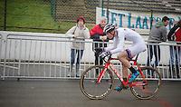 U23 World Cup Leader Mathieu van der Poel (NLD) at work<br /> <br /> UCI Worldcup Heusden-Zolder Limburg 2013