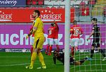 Fussball - 3.Bundesliga - Saison 2020/21<br /> Kaiserslautern -  Fritz-Walter-Stadion 07.04.2021<br /> 1. FC Kaiserslautern (fck)  - FSV Zwickau (zwi) 2:2<br /> Jubel naci dem 2:1 durch ein Eigentor vonSteffen NKANSAH (FSV Zwickau), mi, hinten, Nicolas SESSA (1. FC Kaiserslautern) und Hendrik ZUCK (1. FC Kaiserslautern)<br /> <br /> Foto © PIX-Sportfotos *** Foto ist honorarpflichtig! *** Auf Anfrage in hoeherer Qualitaet/Aufloesung. Belegexemplar erbeten. Veroeffentlichung ausschliesslich fuer journalistisch-publizistische Zwecke. For editorial use only. DFL regulations prohibit any use of photographs as image sequences and/or quasi-video.