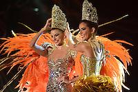 BARRANQUILLA-COLOMBIA- 12-02-2015: Con un show de más de una hora, se coronó a la reina del Carnaval Cristina Felfle quien prendió el la fiesta en el Estadio Romelio Martínez y así los barranquilleros se enrutan a la última etapa del Carnaval de Barranquilla 2015 que concluirá en el próximo 17 de febrero./ With a show of over an hour, was crowned the Carnival Queen Cristina Felfle who set the the feast at the Romelio Martínez Stadium and so Barranquilleros are routed to the last stage of the Carnival of Barranquilla 2015 will end on the 17th of February. Photo: VizzorImage / Alfonso Cervantes / STR