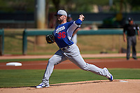 Los Angeles Dodgers pitcher Adam Liberatore (36) during an instructional league game against the Milwaukee Brewers on October 13, 2015 at Cameblack Ranch in Glendale, Arizona.  (Mike Janes/Four Seam Images)