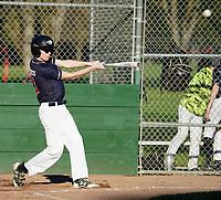 Pleasanton Little League Junior Gold team battle Danville at the Ken Mercer Sports Park in Pleasanton, CA Wednesday March 13, 2019. 2019. (Photo by Alan Greth)