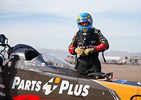 Feb 2, 2018; Chandler, AZ, USA; NHRA top fuel driver Clay Millican during Nitro Spring Training pre season testing at Wild Horse Pass Motorsports Park. Mandatory Credit: Mark J. Rebilas-USA TODAY Sports