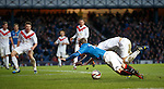 David Templeton fouled in the box by Gregor Buchanan for a penalty