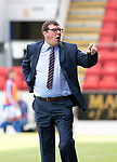 St Johnstone v Livingston….10.08.19      McDiarmid Park     SPFL <br />An unhappy Tommy Wright <br />Picture by Graeme Hart. <br />Copyright Perthshire Picture Agency<br />Tel: 01738 623350  Mobile: 07990 594431