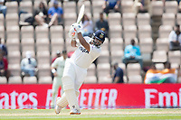 Rishabh Pant, India advances down the wicket and drives during India vs New Zealand, ICC World Test Championship Final Cricket at The Hampshire Bowl on 23rd June 2021