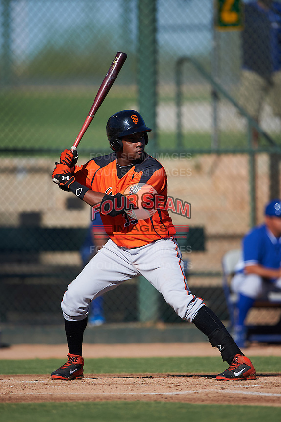 San Francisco Giants Gustavo Cabrera (39) during an instructional league game against the Kansas City Royals on October 23, 2015 at the Papago Baseball Facility in Phoenix, Arizona.  (Mike Janes/Four Seam Images)