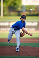 Rancho Cucamonga Quakes starting pitcher Dean Kremer (17) delivers a pitch during a California League game against the Stockton Ports at Banner Island Ballpark on May 16, 2018 in Stockton, California. Rancho Cucamonga defeated Stockton 6-3. (Zachary Lucy/Four Seam Images)