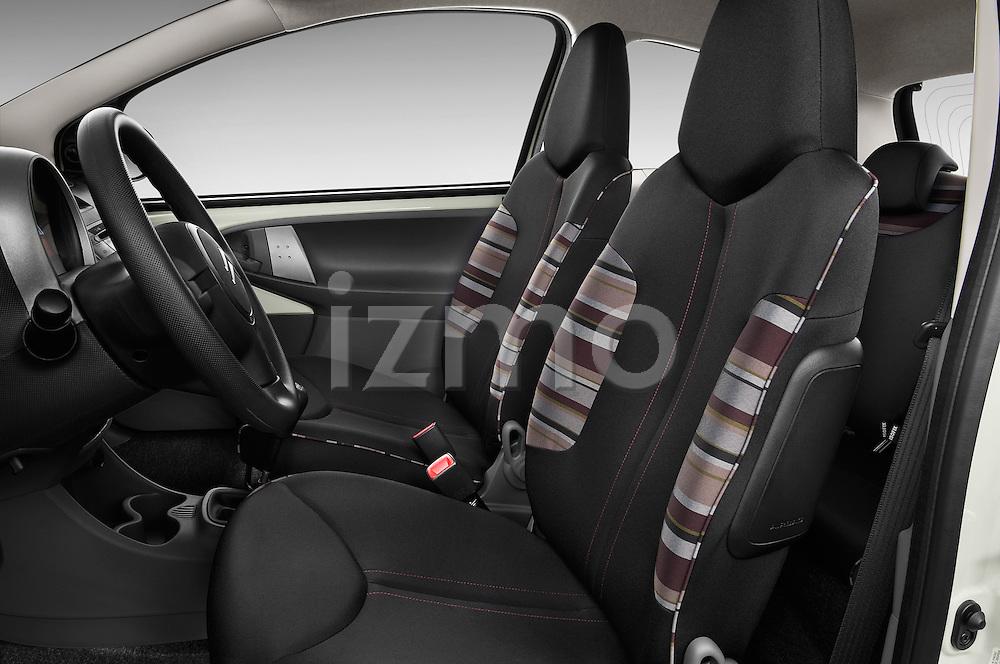 Front seat view of a 2009 - 2012 Citroen C1 Airplay 3-Door Hatchback.