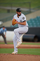 Jackson Generals pitcher Justin Donatella (21) during a Southern League game against the Mississippi Braves on July 23, 2019 at The Ballpark at Jackson in Jackson, Tennessee.  Mississippi defeated Jackson 1-0 in the second game of a doubleheader.  (Mike Janes/Four Seam Images)