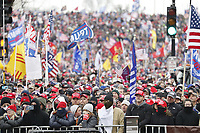 Supporters as US President Donald J. Trump delivers remarks to supporters gathered to protest Congress' upcoming certification of Joe Biden as the next president on the Ellipse in Washington, DC, USA, 06 January 2021. Various groups of Trump supporters are gathering to protest as Congress prepares to meet and certify the results of the 2020 US Presidential election.<br /> Credit: Shawn Thew / Pool via CNP/AdMedia