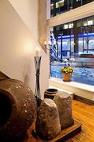 earthenware jar Milos Restaurant New York City
