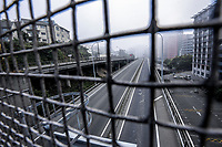 State Highway One before the Terrace Tunnel entrance to Wellington CBD during quarantine lockdown for COVID19 pandemic in Wellington, New Zealand on Wednesday, 1 April 2020. Photo: Dave Lintott / lintottphoto.co.nz