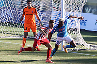 Victor Osimhen of SSC Napoli compete for the ball<br /> during the friendly football match between SSC Napoli and SS Teramo Calcio 1913 at stadio Patini in Castel di Sangro, Italy, September 04, 2020. <br /> Photo Cesare Purini / Insidefoto
