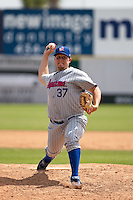April 11th 2010: Ryan Searle of the Daytona Cubs, the Florida State League High-A affiliate of the Chicago Cubs. In a game against the of the  Brevard County Manatees, the Florida State League High-A affiliate of the Milwaukee Brewers at Space Coast Stadium in Viera, FL (Photo By Scott Jontes/Four Seam Images)