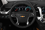 Car pictures of steering wheel view of a 2018 Chevrolet Tahoe Premier 2WD 5 Door SUV