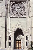 San Francisco, California, USA. Grace Cathedral (Episcopal), Main Entrance.