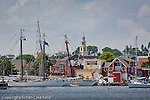 Tall ships on the waterfront of Gloucester, North Shore, MA