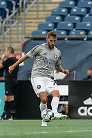 FOXBOROUGH, MA - AUGUST 7: Nick O'Callaghan #72 of Orlando City B warms up before a game between Orlando City B and New England Revolution II at Gillette Stadium on August 7, 2020 in Foxborough, Massachusetts.