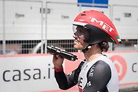 post-finish cooldown by Roberto Ferrari (ITA/UAE-Emirates)<br /> <br /> stage 21: Monza - Milano (29km)<br /> 100th Giro d'Italia 2017