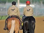 Archarcharch, trained by Jinks Fires, exercises in preparation for the 137th running of the Kentucky Derby at Churchill Downs in Louisville, Kentucky to be run May 7, 2011.