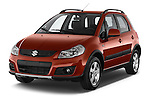 2013 Suzuki SX4 Grand Luxe Exterior 5 Door SUV 2WD Angular Front stock photos of front three quarter view