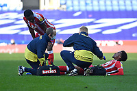 Injury concern for Tyrese Campbell of Stoke City during Reading vs Stoke City, Sky Bet EFL Championship Football at the Madejski Stadium on 7th November 2020